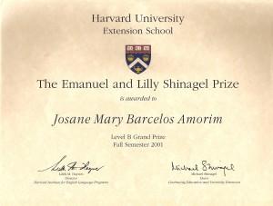 Harvard Essay Prize Fall 2001