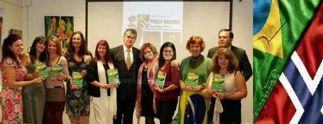 Lançamento da Antologia Bilíngue Português-Norueguês 'SER BRASILEIRO'. Embaixada Brasileira em Oslo-Noruega, 9/Set.2014