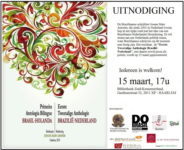 Uitnodiging Anthologie 2015